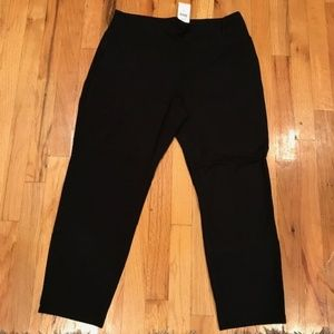 J Jill Wearever Black  black pant M-Petite-NEW
